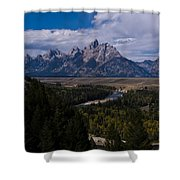 The Tetons - Il Shower Curtain