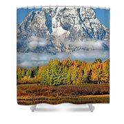 The Tetons In Autumn Shower Curtain