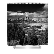 The Tetons Shower Curtain