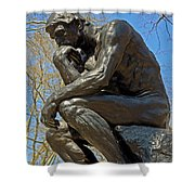 The Thinker By Rodin Shower Curtain