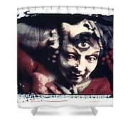 The Third Eye Polaroid Transfer Shower Curtain