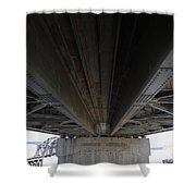 The Three Benicia-martinez Bridges In California - 5d18842 Shower Curtain