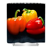 The Three Peppers Shower Curtain