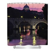 The Tiber River And The Dome Of St Shower Curtain