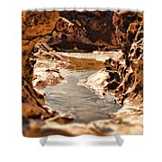 The Tide Is Out Shower Curtain