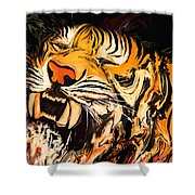 The Tiger Shower Curtain