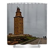 The Tower Of Hercules Shower Curtain