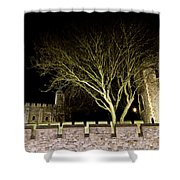 The Tower Of London At Night  Shower Curtain