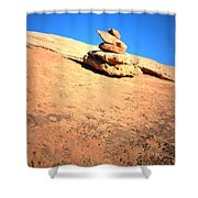 The Trail Marker Shower Curtain