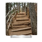 The Trail To The Top Shower Curtain