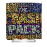 The Trash Pack Eyeball Mosaic Shower Curtain