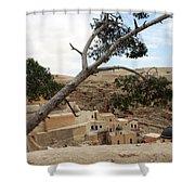 The Tree In Desert Shower Curtain