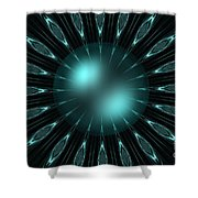 The Turquoise Sun Shower Curtain