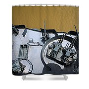 The Twin Bofors 40mm Anti-aircraft Shower Curtain by Michael Wood
