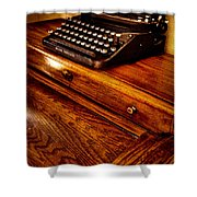 The Typewriter Shower Curtain by David Patterson