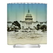 The United States Capital Building Shower Curtain