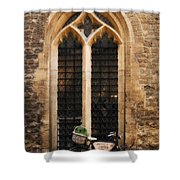 The Vaults Garden Cafe Bicycle In Oxford England Shower Curtain
