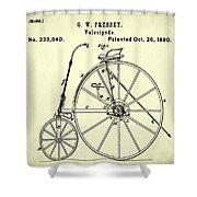 The Velocipede Patent 1880 Shower Curtain