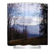 The Vermont Woods - Stowe Shower Curtain