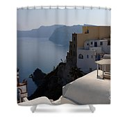The View At Fira Shower Curtain