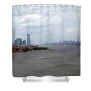 The View From The Statue Of Liberty Shower Curtain
