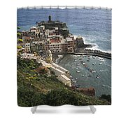 The Village Of Vernazaa On Italys Shower Curtain