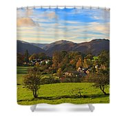 The Village Of Watermillock In Cumbria Uk Shower Curtain