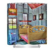 The Vincent Van Gogh Small House Shower Curtain