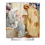 The Visit Of The Wise Men Shower Curtain