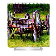 The Wagon At El Prado Shower Curtain