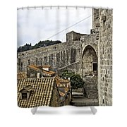 The Wall In Dubrovnik Shower Curtain