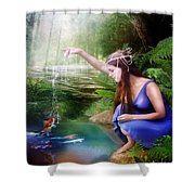 The Water Hole Shower Curtain