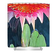 The Water Lily Unleashed Shower Curtain