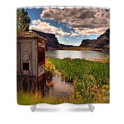 The Water Shed Shower Curtain by Tara Turner