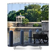 The Waterworks Wheelbarrow - Philadelphia Shower Curtain
