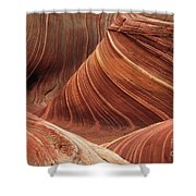 The Wave Into The Fold Shower Curtain
