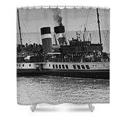 The Waverley Paddle Steamer Mono Shower Curtain