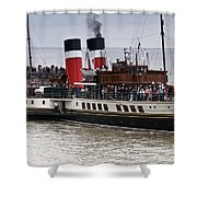 The Waverley Paddle Steamer Shower Curtain