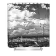 The Way Of The Wind Palm Springs Shower Curtain