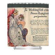 The Wedding Veil Of The Princess Rospigliosi's Great Grandmother Shower Curtain