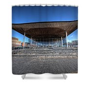 The Welsh Assembly Building 2 Shower Curtain