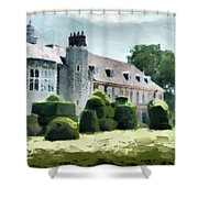 The West Wing Of Historic Hall Place  Shower Curtain