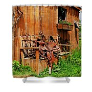 The Western Saddle Shower Curtain
