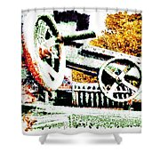 The Wheels Of War Keep On Turning Shower Curtain