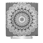 The White Mandala No. 2 Shower Curtain