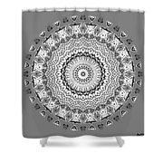 The White Mandala No. 5 Shower Curtain