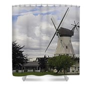 The White Windmill Shower Curtain