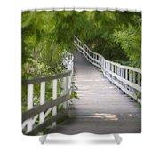 The Whitewater Walk Boardwalk Trail Shower Curtain