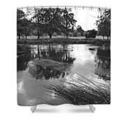 The Wind-swept River Trent At Stapenhill Shower Curtain