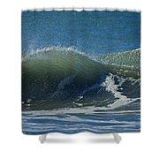 The Windblown Wave Shower Curtain